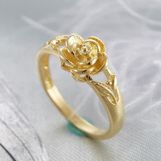gold, rosering, 14k Gold, Women's Fashion