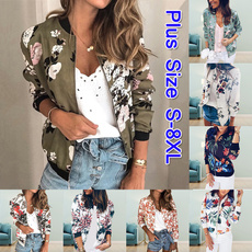 Casual Jackets, Fashion, floraljacket, zipperjacket