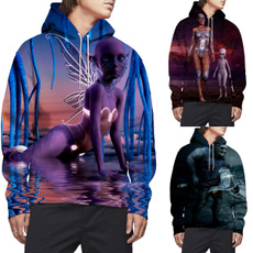 3D hoodies, Fashion, pullover hoodie, Sleeve
