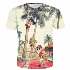 Summer, animefigure, men's cotton T-shirt, Funny