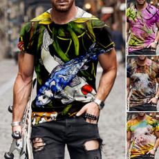 Funny, Fashion, roundneckshortsleeve, Summer