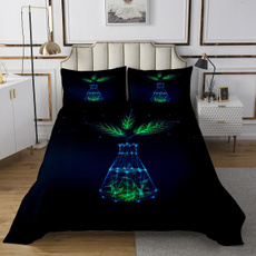 kidroom, leaf, greenleafprintedbedspread, bedspreadscoverlet