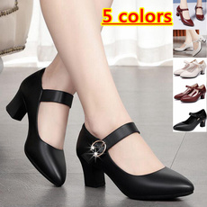 Summer, High Heel Shoe, leather shoes, Office