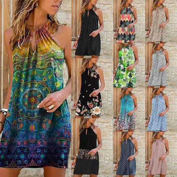 Summer, Fashion, women dresses, plus size dress