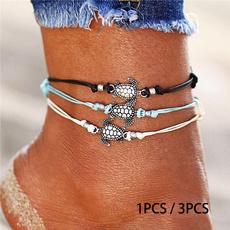 Turtle, ankletsforwomen, Jewelry, Chain