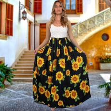Sleeveless dress, American, Lace, Summer