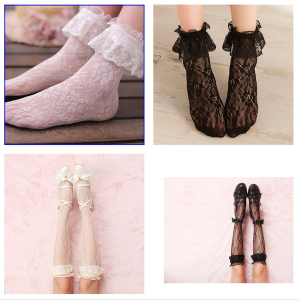 Flowers, Lolita fashion, Lace, lolitasock