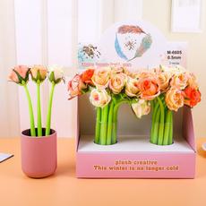 blackpen, Flowers, fakeroseflower, Office