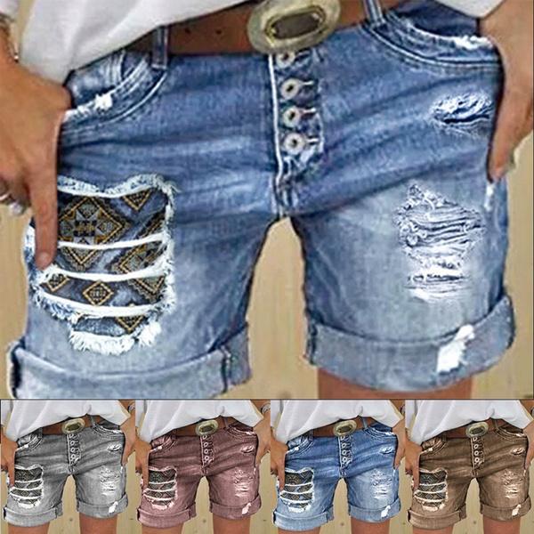 Plus Size, pantsforwomen, Short pants, Denim