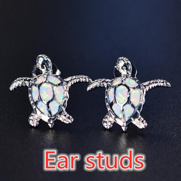 Turtle, cute, opalearring, Stud Earring