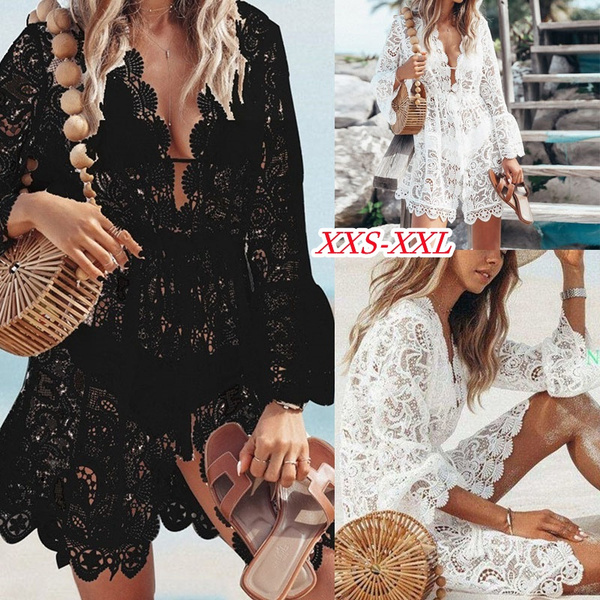Summer, summer dress, Lace, Hollow-out