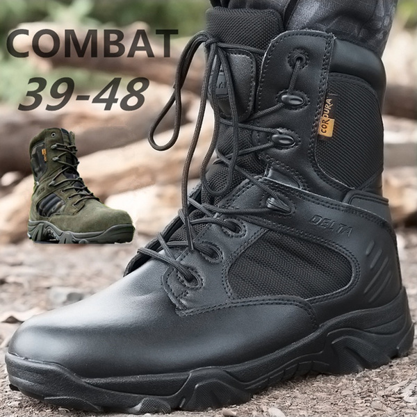 combat boots, Outdoor, leather shoes, Combat