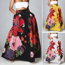 bohemia, Summer, long skirt, Plus Size