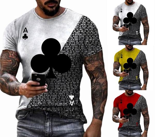 Summer, Poker, Fashion, Slim T-shirt