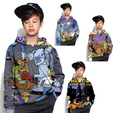 kidspullover, 3D hoodies, scoobydooforkid, kids clothes