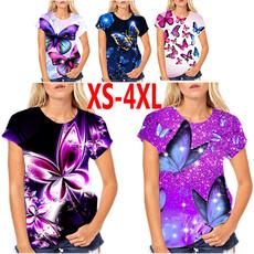 butterflyprint, butterfly, Plus Size, Shirt