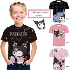 cute, kidgirltshirt, Summer, personalitytshirt