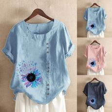blouse, Plus Size, Floral print, Fashion