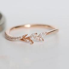DIAMOND, leaf, Jewelry, gold