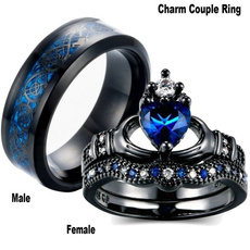 Steel, Couple Rings, Stainless, wedding ring