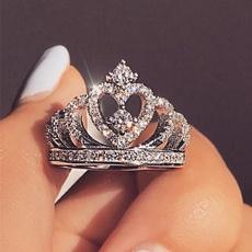 Sterling, Couple Rings, DIAMOND, wedding ring