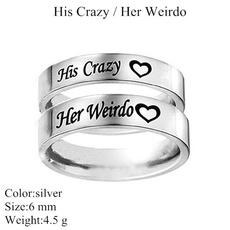 Steel, Couple Rings, Stainless Steel, Jewelry