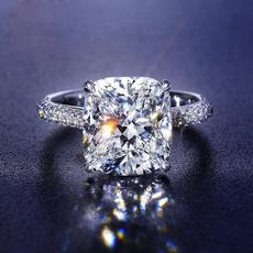 White Gold, DIAMOND, 925 silver rings, gold