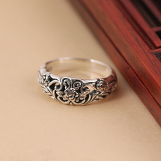 Sterling, Engagement, Jewelry, flowerring