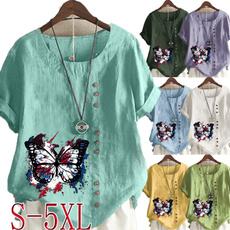 butterfly, Summer, Plus Size, Graphic T-Shirt