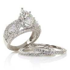 Sterling, DIAMOND, wedding ring, Classics