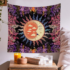 sunandmoon, Flowers, sunmoontapestry, mandalatapestry