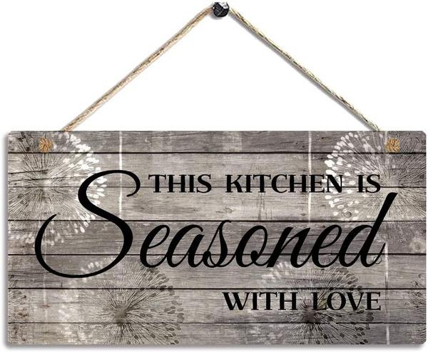 farmhousekitchendecor, printed, kitchensign, Decor
