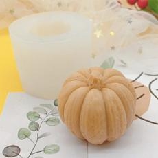 scentedcandlemold, waxmold, Silicone, pumpkinmold