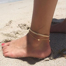 Beautiful, Star, Anklets, Chain