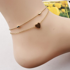 Summer, Love, Anklets, peach