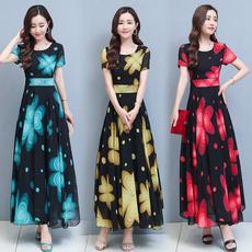 Summer, short sleeve dress, vestidos femininos, long dress