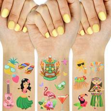 Summer, flamingo, Hawaiian, tattoo