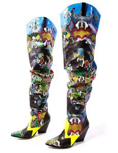 caperobbin, Boots, Women's Fashion, snake