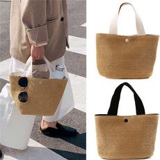 Summer, Capacity, strawbag, Shoulder Bags