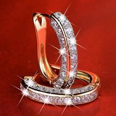 DIAMOND, gold, women's earrings silver, wedingearring