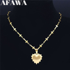 Steel, Heart, Stainless, Jewelry