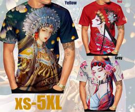 chineseantiquetshirt, Antique, shortsleevestshirt, 3dmentshirt