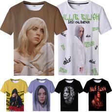 Mens T Shirt, womens top, billieeilishprint, Casual