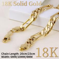 hip hop jewelry, 18ksolidgoldbracelet, gold, figarobracelet