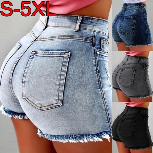 Summer, Slim Fit, JeansWomen, casualshort