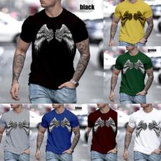 Summer, Fashion, Cotton T Shirt, Angel
