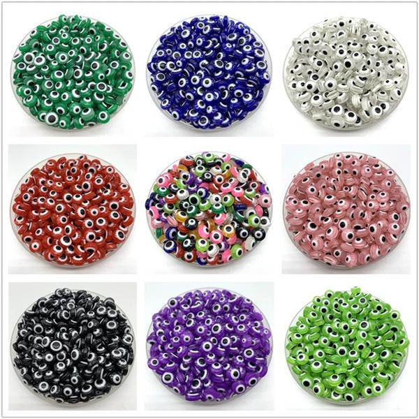 Charm Bracelet, beadsforjewelrymaking, resinbead, eye