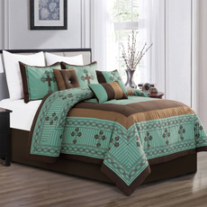 comfortersetsckingsize, queenbeddingsetgreen, Bedding, printcomforterset