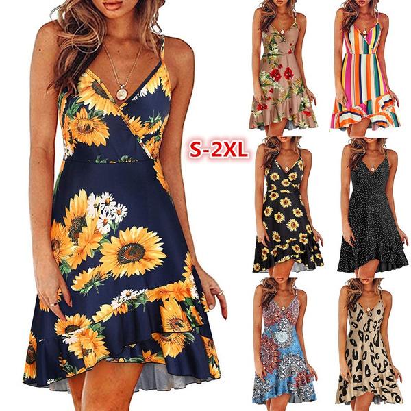 Mini, ruffle, Summer, Dress
