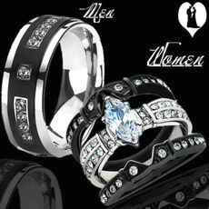 Couple Rings, Fashion, Stainless, Engagement Ring